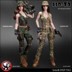 1/6 CAT TOYS CT014 Female Combat Suit Clothes Set W/Head Mod