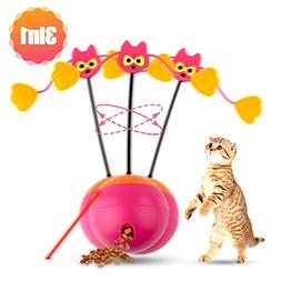 4UHeart 3 In 1 Spinning Cat Toy - Cat Food Treat Dispenser,