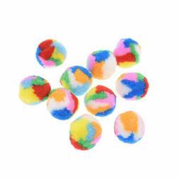 10/20/50pcs 3.5cm Colorful Plush Soft Balls Cat Toy For Pet