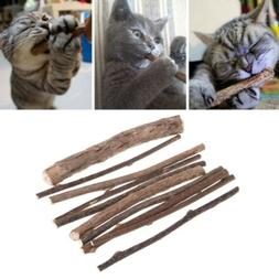 10 Pcs Natural Polygonum Stick Catnip Cat Toys Cleaning Teet
