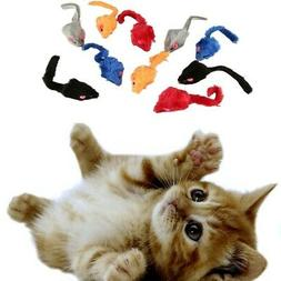 10Pcs/Bag Pets Cat Dog Mice Animal Plush Toys Kitten Play&Ch