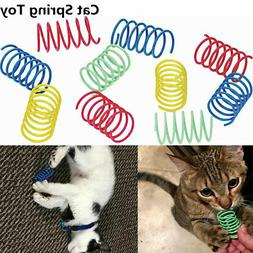 10Pcs Funny Kitten Cat Playing Toys Bright Color Springs Pet