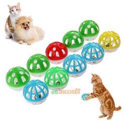 10pcs Plastic Hollow Out Round Pet Cat Colorful Play Ball To