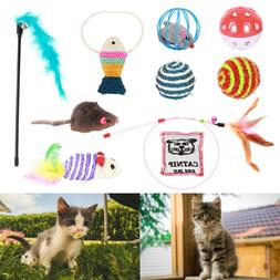 10Pcs Set Pet Cat Lot Bulk Mice Balls Catnip Kitty Kitten Pl