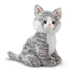 Melissa and Doug 11.5'' Plush Greycie The Tabby Cat Stuffed