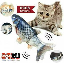 """11"""" Electric Moving Cat Kicker Fish Toy, Realistic Flopping"""