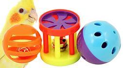 Bonka Bird Toys 1195 Play Three Foot Toy Ball Cockatiel Para