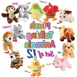 12 Plush Talking Animal Sound Toys by Animal House | Baby Gi