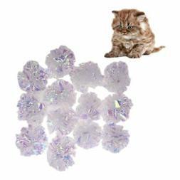 Mylar Cat Pet Toy Balls Crinkle Sound Shiny Ring Paper Kitte