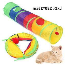 """130cm/51"""" Indoor Collapsible Pet Cat Dog Tunnel Toy Rabbit F"""