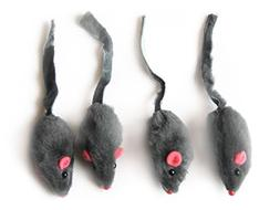 Iconic Pet 15778 Short Hair Fur Mice For Cats Mice Toy, 4 Pa