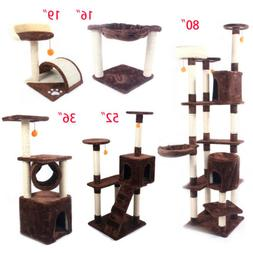 """16""""19""""36""""52""""80"""" Pet Cat Tree Play House Tower Condo Bed Scra"""