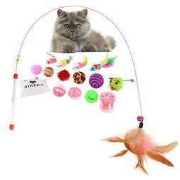 16Pcs Toys Cat Lot Bulk Mice Balls Catnip Kitty Kitten Play