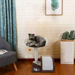 """19"""" Brown Pet Cat Tree Play House Tower Condo Bed Scratch Po"""