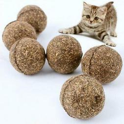 1PC Cat Toys Pet Cat Natural Catnip Treat Ball Chasing Toys