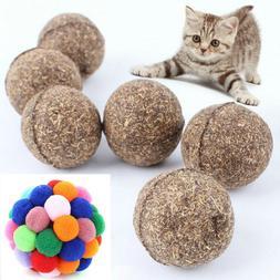 1PC Handmade Interactive Toy Bouncy Ball Natural Catnip Ball