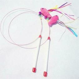 1PC Pet Cat Toys Newly Design Fish Feather Steel Wire