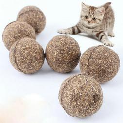 Pet Cat Chew Toys Natural Catnip Healthy Funny Treats Ball F