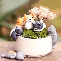 1set cartoon cat micro landscape