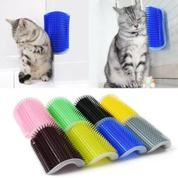 1X Cat Pet Self Groomer Brush Wall Corner Grooming Massager