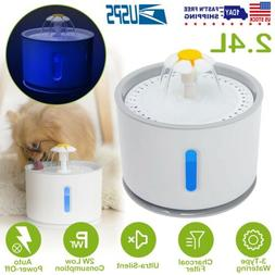 2.4L Automatic Pet Water Fountain Cat Dog Health Caring Wate