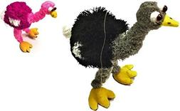 """2 Ostrich Puppets - 12"""" Ostrich Marionette Puppets for Kids"""