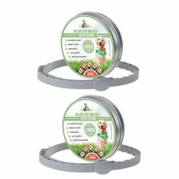 2 Pack Flea & Tick Collar For Pets Dogs & Cat Control Waterp