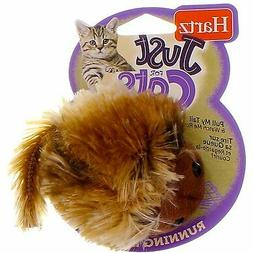 2 Pack Hartz Just For Cats Running Rodent Cat Toy, Catnip Fi