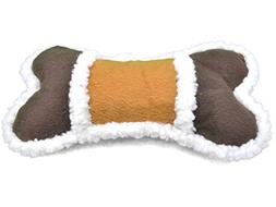 Amazing Pet Products 2-Tone Sherpa Plush Dog Toy, Bone