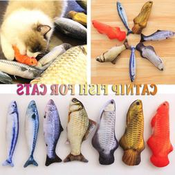 20/30/40/60CM Funny Catnip Fishes Cats Simulation Fish Plush