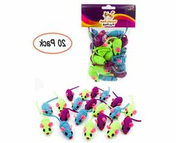 20 Hypno Colorful Mice Rattle Sound Interactive Catch Play T