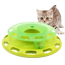 COPPEN 2018 New Cat Toy Ball Bell and Chase Toy for Cats Amu