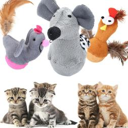 2019 New Pet Dog Cat Toy Glass Fake Animals Cat Toys Interac