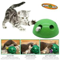 2019 New Pop N' Play Interactive Motion Cat Toy Mouse Teas