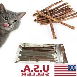 20pcs cat cleaning teeth natural catnip pet