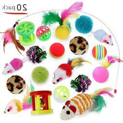 20pcs pet cat toys set bulk mice