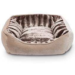 Hollypet 24.8x20.9x8.3 inch, PV Fabric Plush Medium Dog Cat