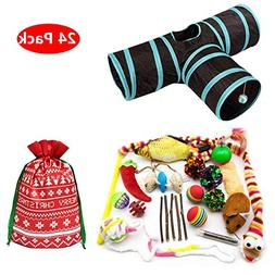 PetFavorites 24 Cat Toys Kitten Catnip Toys Variety Pack - 3