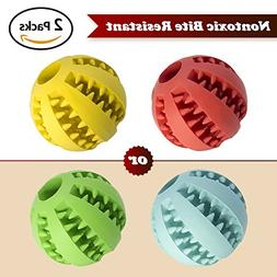2PCS Dog Toy Ball, Nontoxic Bite Resistant Toy Ball for Pet
