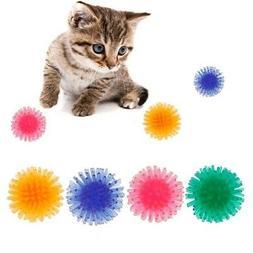 5Pcs Interactive Pet Cat Crazy Smarter Funny TPR Spike Ball