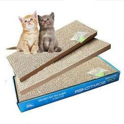 2pcs Pet Cat Scratching Corrugated Board Scratcher Bed Pad T