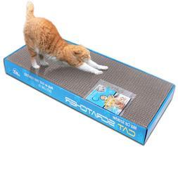 2x Dual-sided Cat Scratching Corrugated Board Scratcher Bed