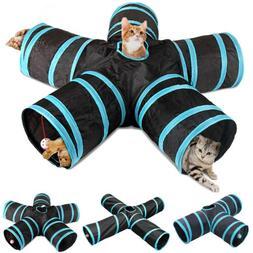 3/4/5 Ways Foldable Cat Tunnel Tube Interactive Cats Peek Ho