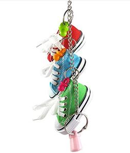 Hapa 3 Mini Creations Sneaker Bird Toy - Parrot Toys Craft C