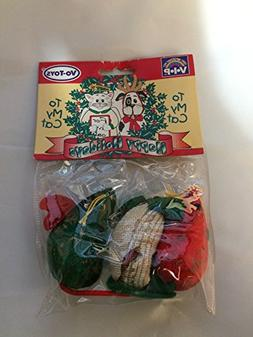 3 Mini Tapestry Holiday Mice Cat Toy Lot By Votoys / Xpet St