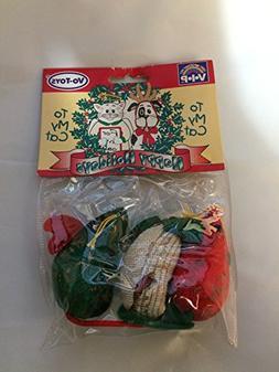 3 mini tapestry holiday mice