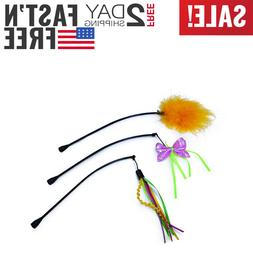 3-Pack - SmartyKat Feather Whirl Replacement Wands Cat Toy..
