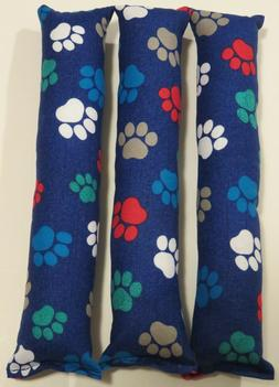 "3-PACK of ""Colorful pawprints"" catnip cat kicker toys- handm"