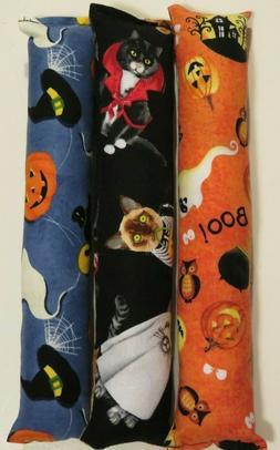 """3-PACK of Halloween catnip cat kicker toys- 10"""" handmade cat"""
