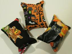 3-PACK of Halloween catnip pillows- handmade cat toys